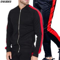 GYMLOCKER hot Selling tracksuit men clothes 2018 gyms new track suit Bodybuilding high quality Fitness mens tracksuit sets