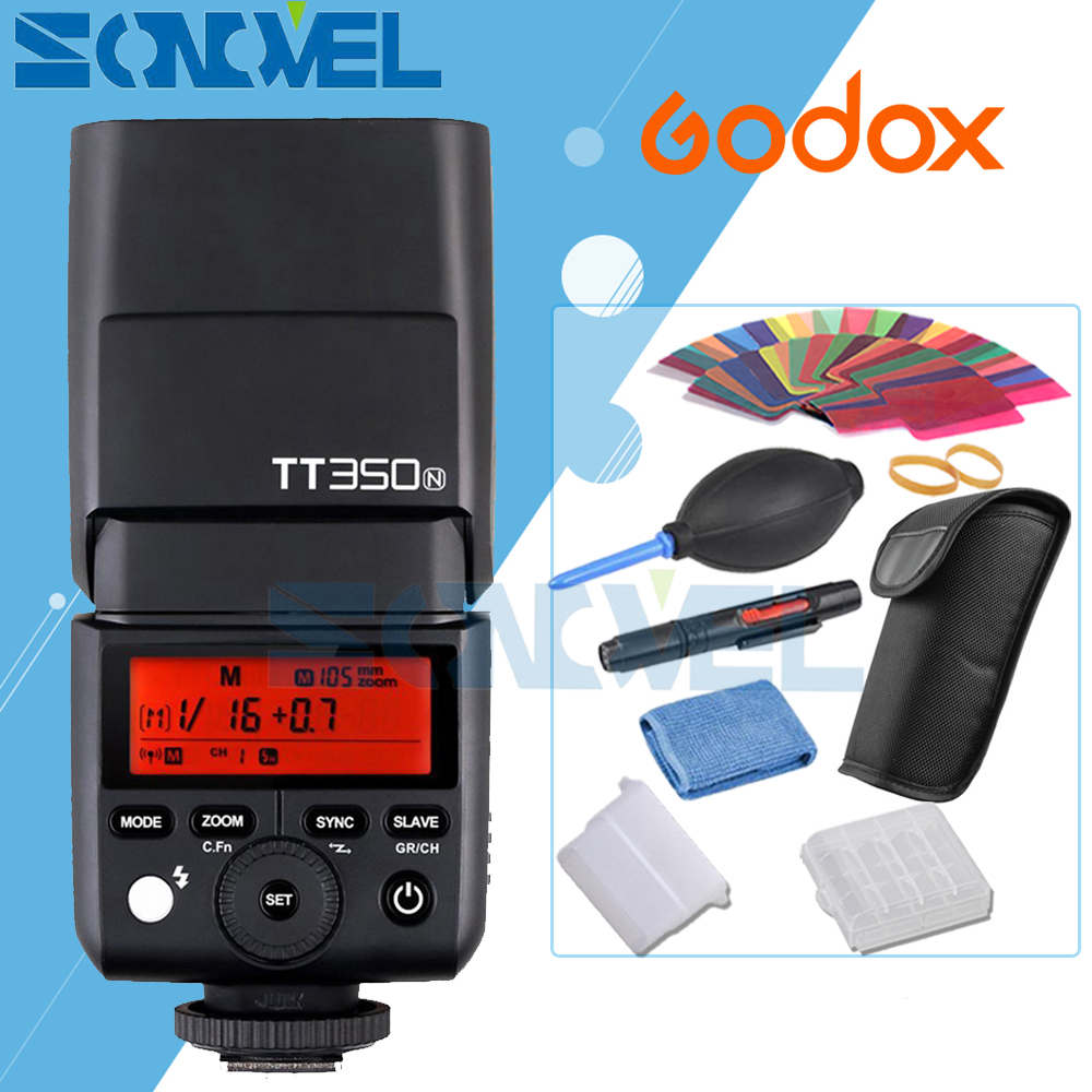купить Godox TT350N 2.4G HSS 1/8000s TTL GN36 Camera Flash Speedlite for Nikon D7500 D7200 D7100 D5600 D5500 D5100 D5200 D3400 D3200 D5