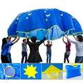 1.8/3/3.5/4/5 m Niño Niño El Desarrollo del Deporte Al Aire Libre Paraguas Del Arco Iris Paracaídas de Juguete de Salto-saco Ballute Paracaídas Juego