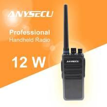 12 Вт высокомощная рация на большие расстояния ANYSECU AC 628 UHF 400 470 МГц, беспроводной домофон, аналоговый 16CH скремблер, двусторонняя радиосвязь