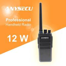 12W duża moc duża odległość walkie talkie ANYSECU AC 628 UHF 400 470MHz interkom bezprzewodowy analogowy 16CH scrambler dwukierunkowe Radio