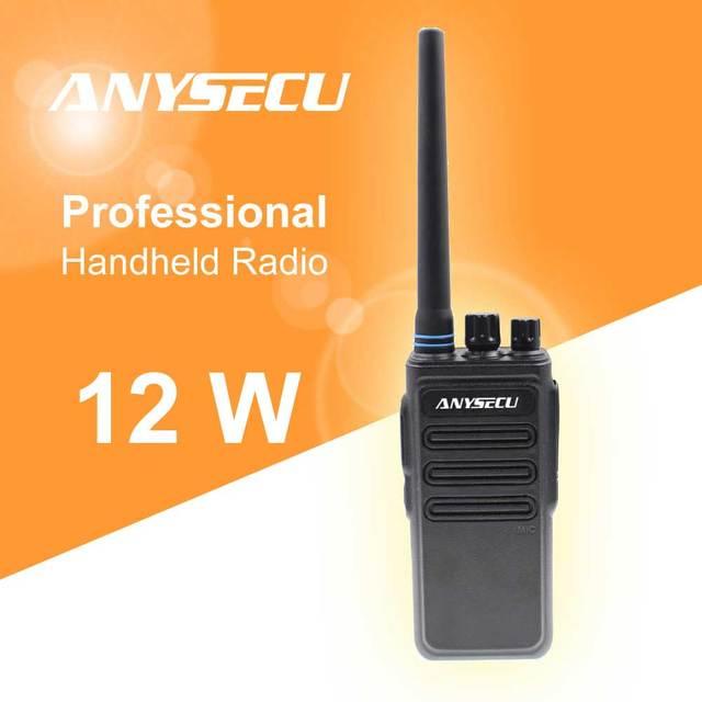12W yüksek güç uzun mesafe walkie talkie ANYSECU AC 628 UHF 400 470MHz kablosuz İnterkom analog 16CH scrambler iki yönlü telsiz