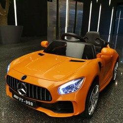 2019 Nieuwe Kinderen 2.4G Rit Op Auto Afstandsbediening Elektrische Auto Vierwiel Dubbele Drive Vroege Onderwijs Speelgoed Baby kind Auto Gift