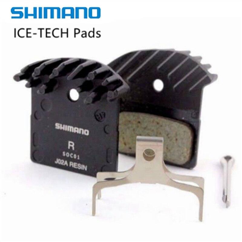 Shimano J02A//J03A Resin Cooling Fin Ice Tech Disc Brake Pads XT XTR SLX Deore