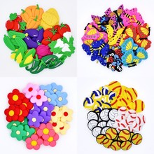 Souvenir 50Pcs Mixed Colorful Flowers Vegetables Bear Balls Flyings Sandal Ornaments Fit Cr
