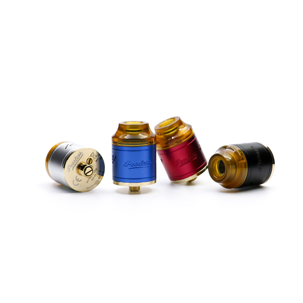 Original Geekvape Peerless RDA Tank With 9-holes side airflow system Peerless Atomizer Supports both single and dual coils hd rda with side adjustable airflow for e cigarette