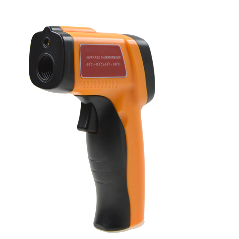 ФОТО Non-contact LCD Industrial Digital IR Infrared Thermometer -50~420 Celsius Emissivity:0.1-1.00 Laser Point Temperature Gun Meter