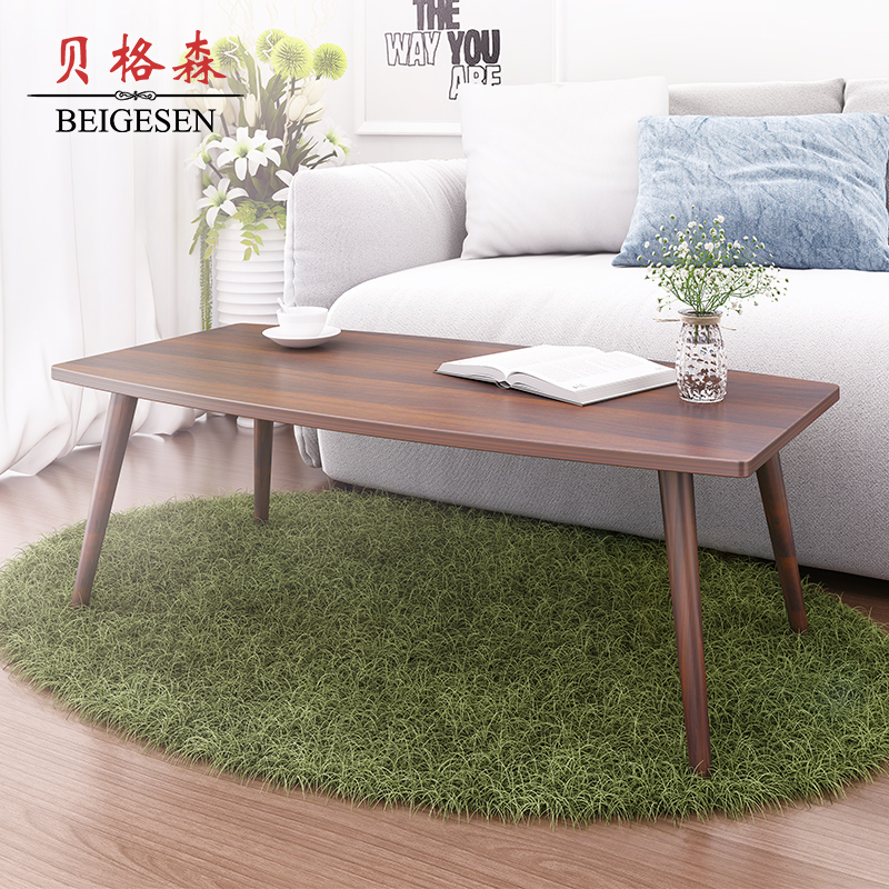 Black Folding Coffee Table Round Tea Table Small Square: Wood Coffee Table Small Apartment Minimalist Rectangular
