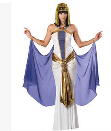 Free Shipping 2015 Halloween Costume for women ancient Egyptian queen served <font><b>the</b></font> queen <font><b>of</b></font> <font><b>the</b></font> Greek <font><b>goddess</b></font>