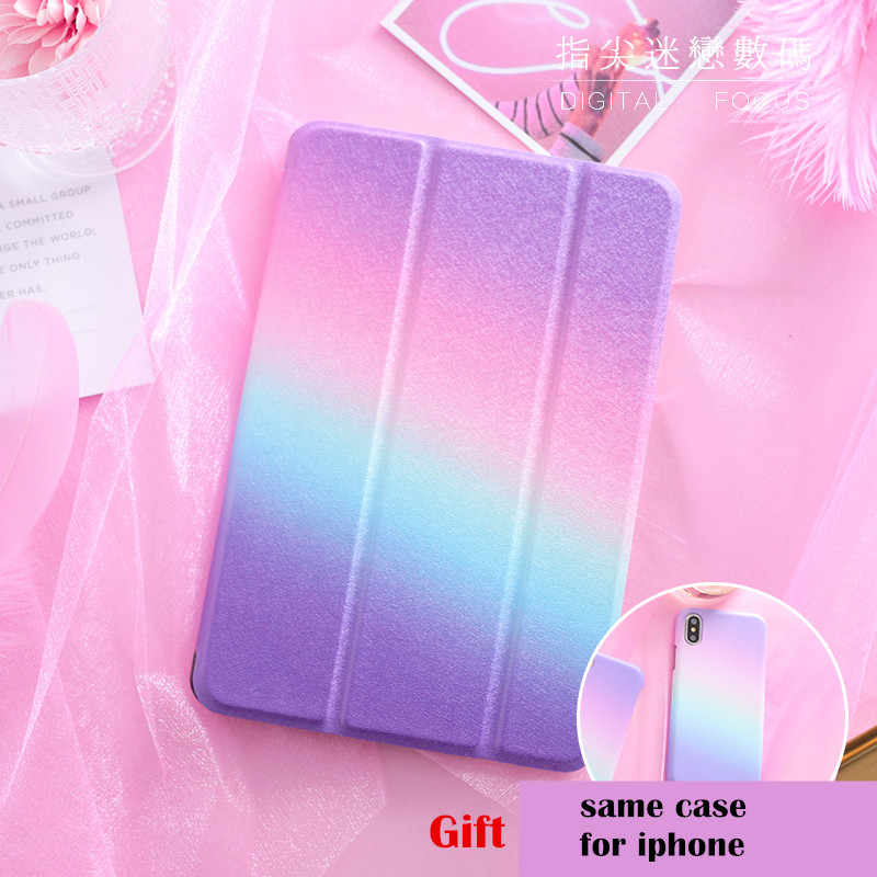 Rainbow Magnet Flip Cover For iPad Pro 9.7 air 10.5 12.9 10.2 Mini 1 2 3 4 5 2019 Tablet Case cover for New iPad 9.7 2017 2018