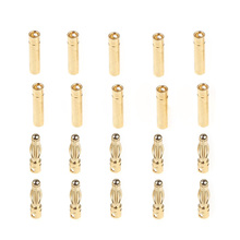 GoolRC 10 Pairs 4.0mm Copper Bullet Banana Plug Connectors Male + Female for RC Motor ESC Battery Part