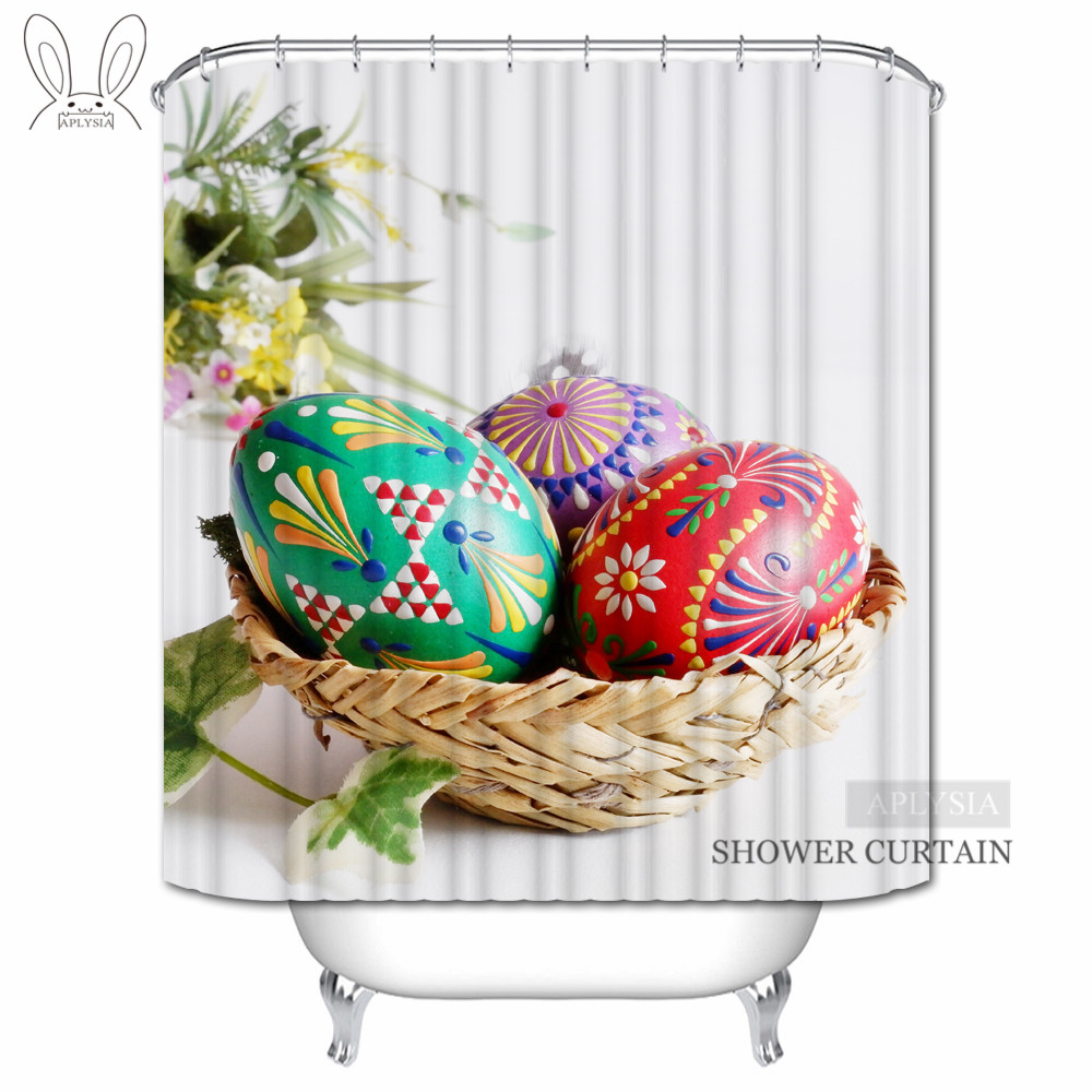 Aplysia Easter Eggs Shower Curtains Sob Spring Easter ...
