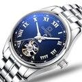 Карнавал мужские часы автоматические механические брендовые Роскошные сапфировые Tourbillion reloj hombre водонепроницаемые мужские наручные часы ...
