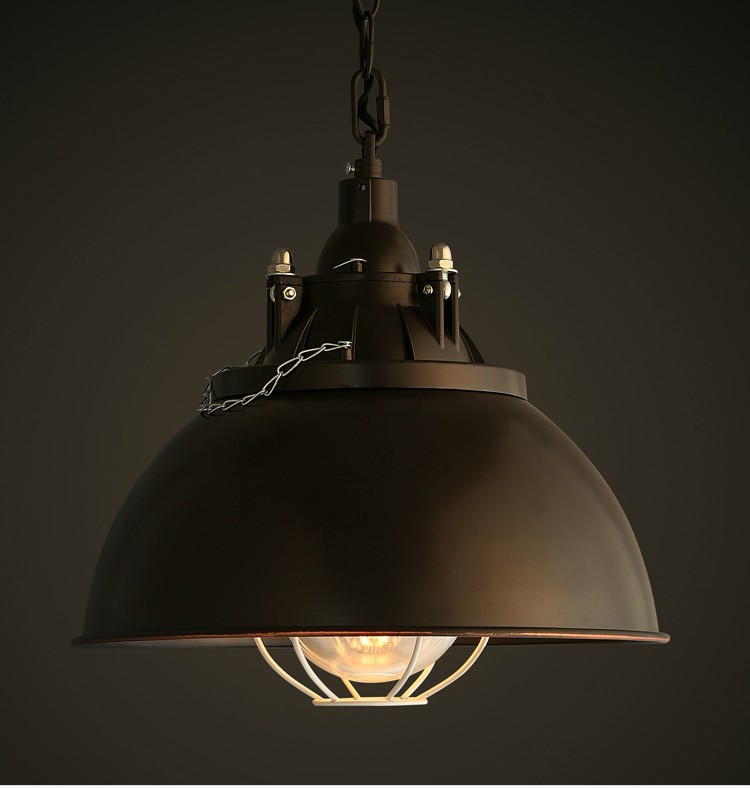 Loft vintage pendant lights iron lamp shades Edison E27 holder retro industry black hanging light for kitchen dining room