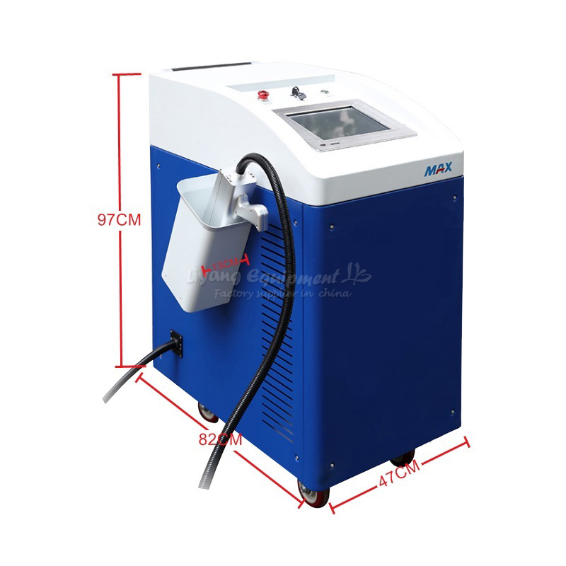 LY CL100 clean laser rust removal machine 100W for de-rusting metal refurbishing mobile clearing & marking Stone cleaning