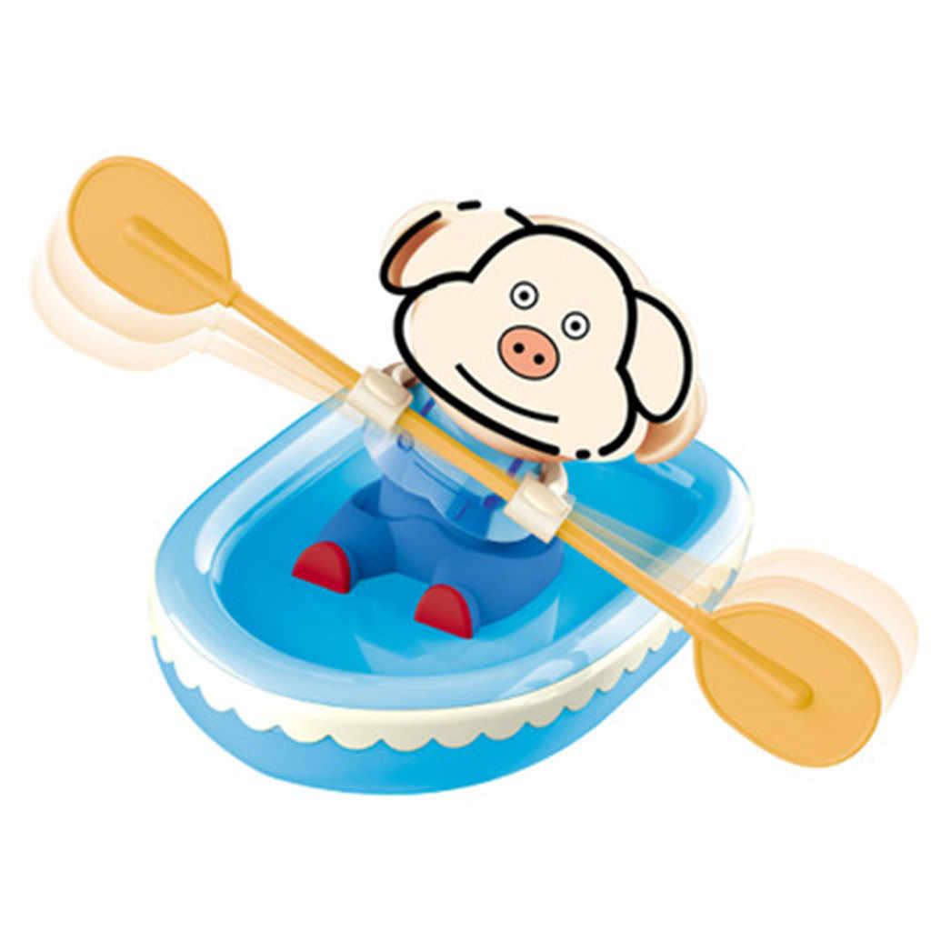 Новые Игрушки для ванны для детей Детские заводные лодки корабль играть в воду ванная комната Игрушка для ванны Забавный подарок Z0306