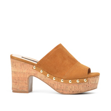 Donna-in 2018 Summer New Genuine Leather Women Slippers Platform High Heels Shoes Fashion Slides Natural Suede Sandals for Woman