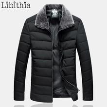 Men Large Size Cotton Down Parka Coats Fur Turn down Loose Jackets Casual Clothes Male 7XL
