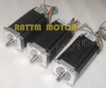 3Pcs Nema23 112mm 4-lead CNC Stepper Motor 425 Oz-in 3A CNC Stepping Motor 3D Printer image