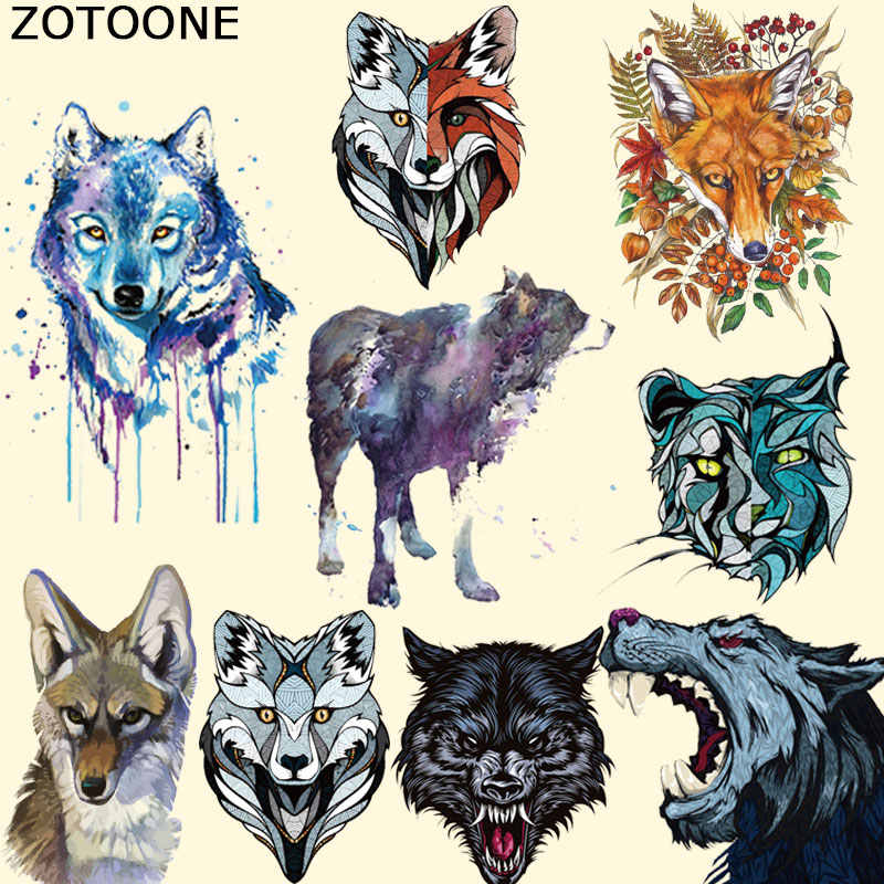 ZOTOONE Clothing To Iron-on Patches Personality Wolf Patches A-level Washable Heat Transfer Stickers Appliqued for Kids F