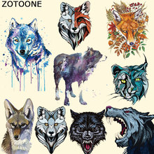ZOTOONE Clothing To Iron-on Patches Personality Wolf Patches A-level Washable Heat Transfer Stickers Appliqued for Kids F clothing to iron on patches personality wolf patches a level washable heat transfer stickers 25 19cm appliqued
