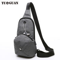 TUAGUAN 2017 Summer Solid Crossbody Bags For Men Messenger Chest Bag Pack Casual Fashion Waterproof Small