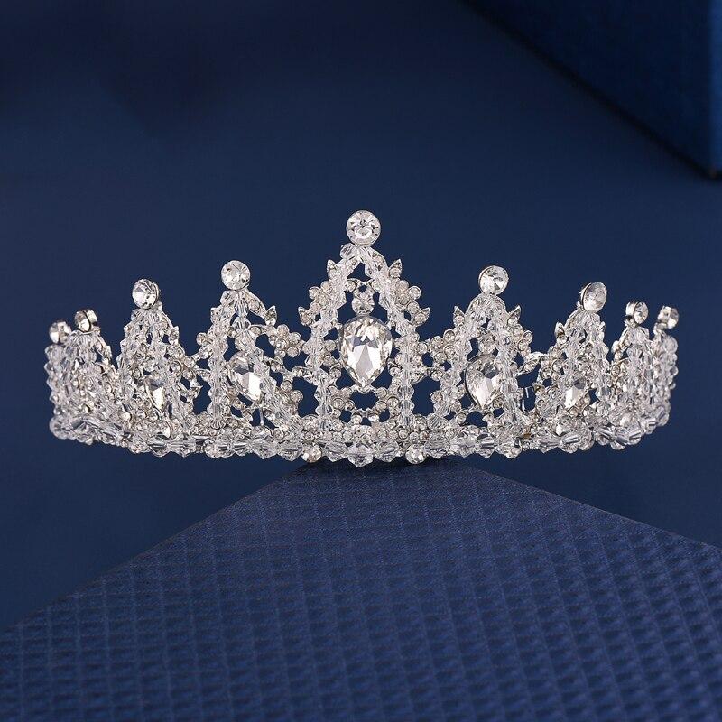 Fashion Crystal Crown Bridal Wedding Hair Accessories Crystal Headbands Tiaras Women Crowns Girls Hair Jewelry Hairbands