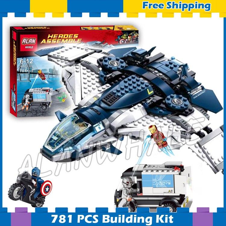 781pcs Super heroes Avengers Quinjet City Chase Captain