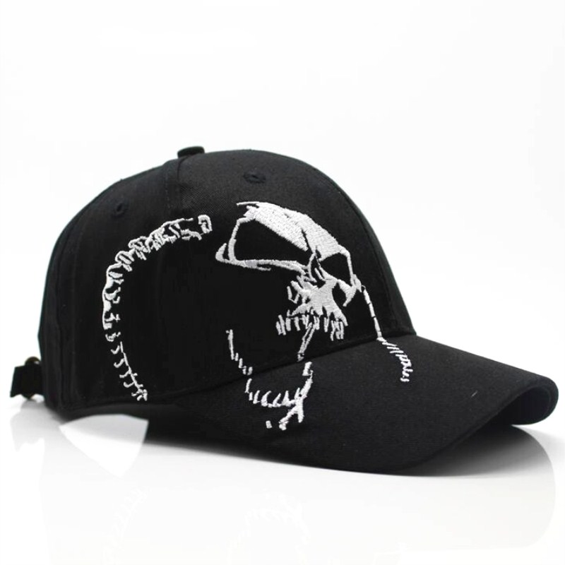 Skull embroidery baseball cap 2