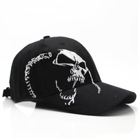 2018 High Quality Unisex 100% Cotton Outdoor Baseball Cap Skull Embroidery Snapback Fashion Sports Hats For Men & Women Cap 2