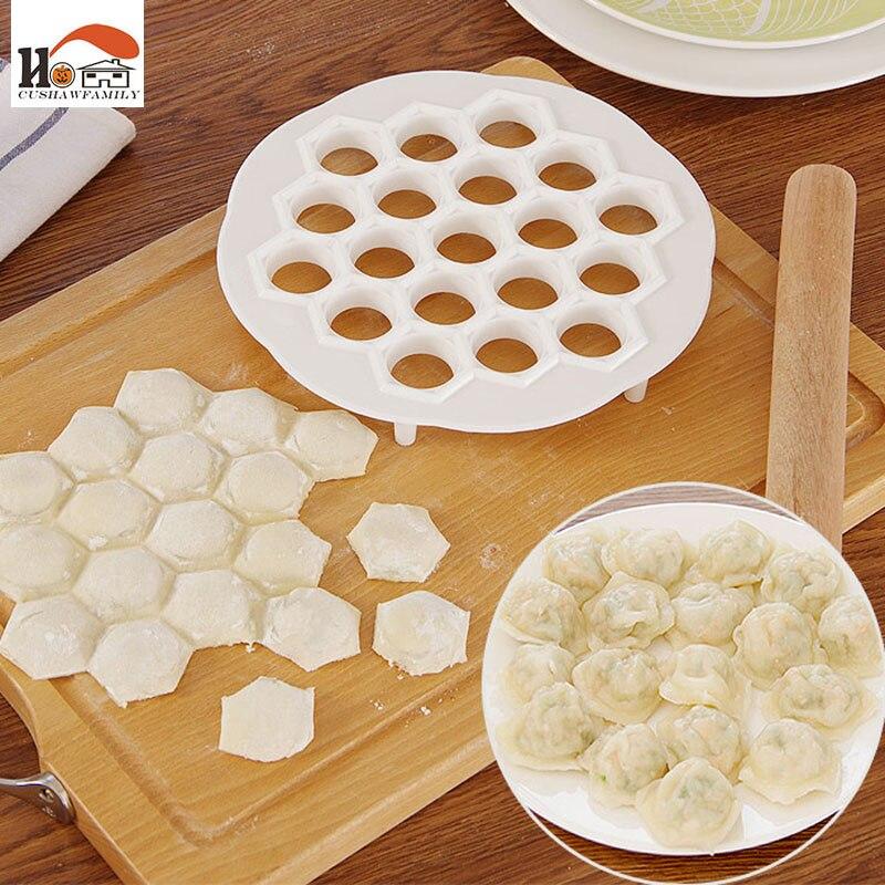 CUSHAWFAMILY Kreativní fast pack knedlík stroj plastový 21cm těsto lis Knedlík koláč Ravioli Mold Maker Vaření pečivo nástroje