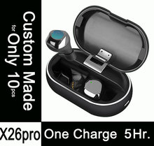 10pcs Custom Made X26pro,5.5 Hours Listening on One Charge,Fast Charging,Mini Wireless Bluetooth TWS Earphone Headset Earbuds i7