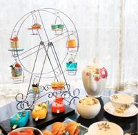 Practical Ferris Wheel 8 Cups Iron/ Silver Stainless Steel Cupcake Stand Cake Holder Decorating Display Party Supplies