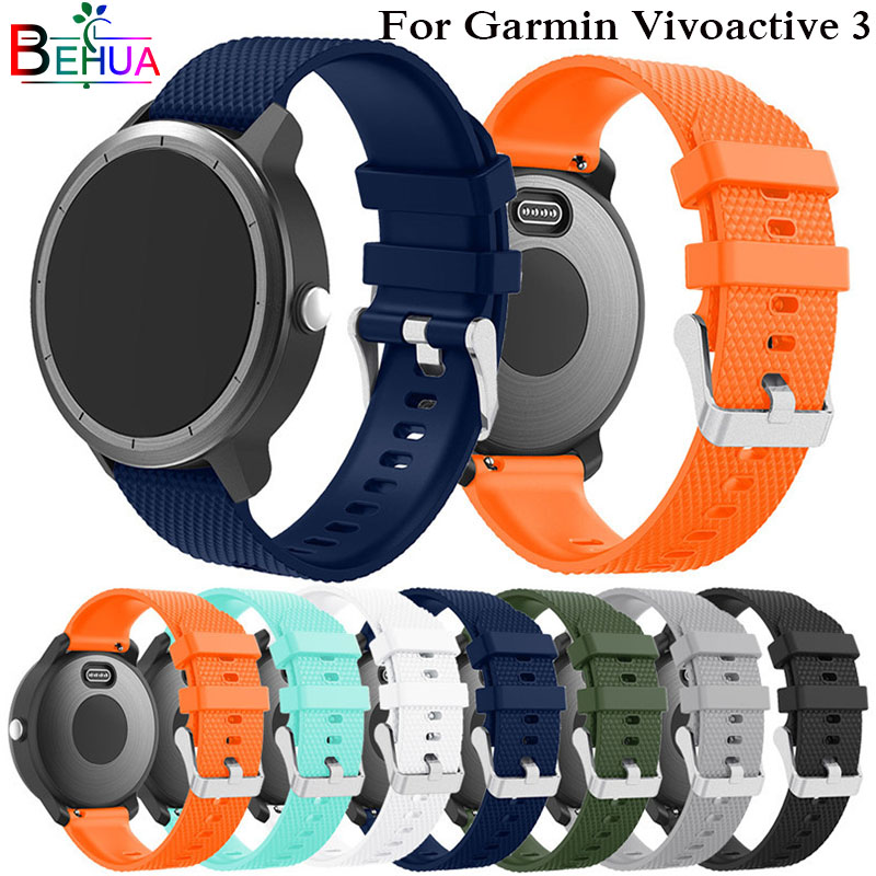 все цены на Colorful Rubber Soft Silicone Replacement Strap for Garmin vivoactive3 Smart Wristband Strap Watchband for Garmin Vivoactive 3 онлайн
