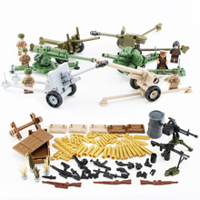 NEW WW2 Military Soviet Soldiers Figures Building Blocks Russia Weapon Guns Brick Model Toys toys