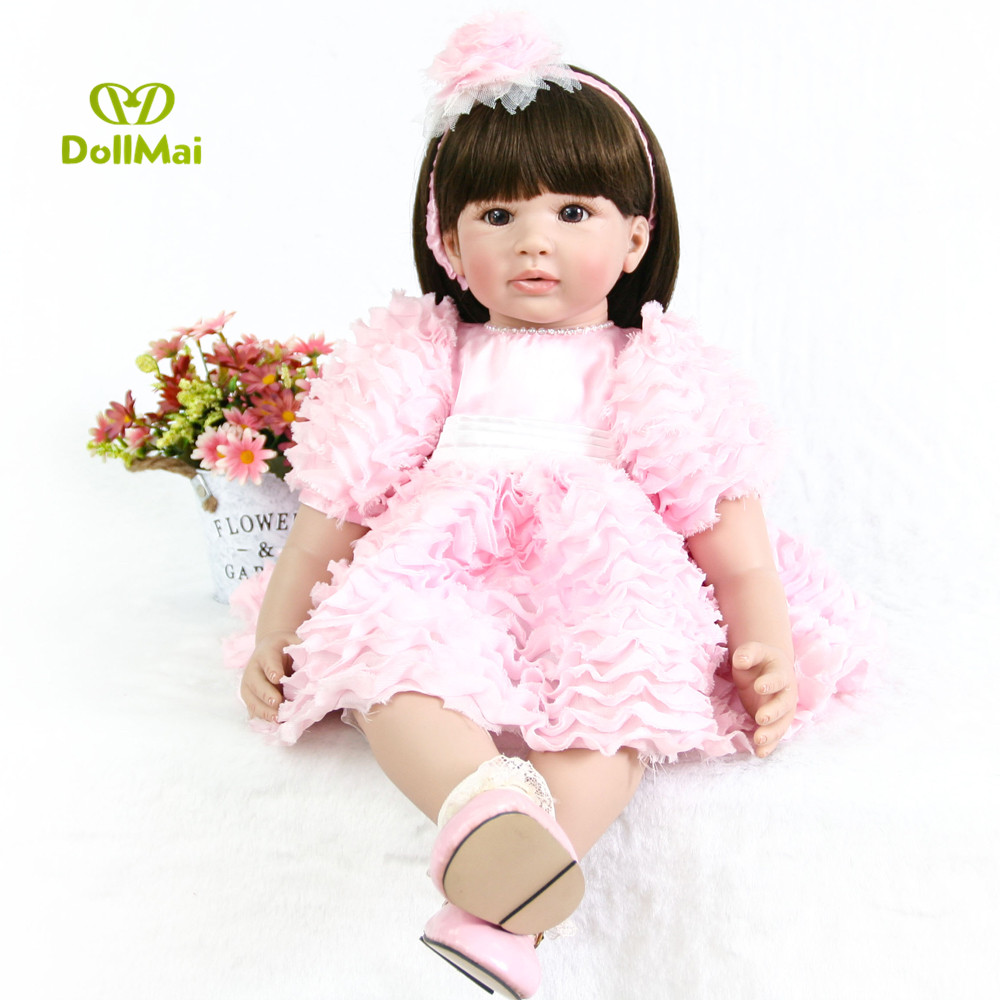 60cm Reborn Dolls Cloth Body Newborn Girl Babies Toy Princess bebe Boneca reborn Baby Doll For Sale Kid Birthday Gift60cm Reborn Dolls Cloth Body Newborn Girl Babies Toy Princess bebe Boneca reborn Baby Doll For Sale Kid Birthday Gift