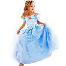 2016 Mid-calf Real Dress Summer High-grade Wedding Dresses Children Embroidered Party Dresse Bridesmaid Kids Clothes 90-140cm