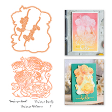 Eastshape Flowers Clear Stamps and Dies Sets Die Cut for Card Making Embossing Metal Cutting Scrapbooking Rubber