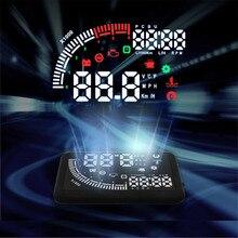 VJOYCAR EM05 5.5 «Hud Grand Écran LED Head Up Display OBD2 II De Voiture Vitesse Waring Pare-Brise Projecteur Sur-vitesse Alarme sur la livraison gratuite