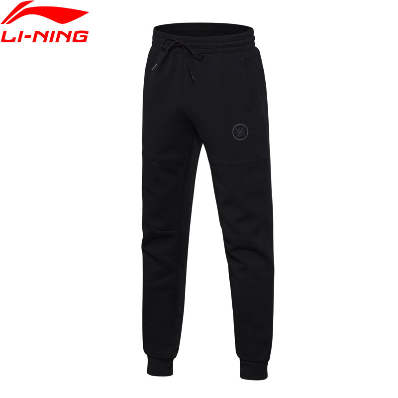 Li-Ning Men Wade Series Sweat Pants Comfort Warm Regular Fit Cotton Polyester LiNing Sports Pants AKLN097 MKY352