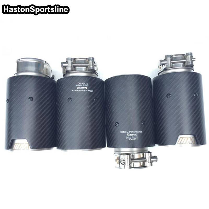 4pcs Universal M performance Exhaust Muffler Car for BMW 63MM 89MM