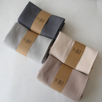 38*62cm Kitchen Towel 2PCS/Set 100% Cotton Waffle Coffee Tea Mug Towel Gray Cleaning Cloth Dish Towels 2018 New Table Napkins 1