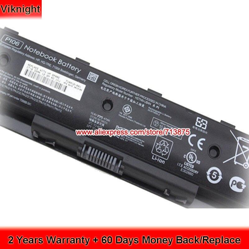 New 710416-001 Battery For Hp Envy 17 PI06 Battery TouchSmart 14 Spare 10.8V 5200mAh p106 pi06 pi06xl pi09 laptop battery for hp envy 14 15 17 hstnn ub4n 710416 001 touchsmart 17z series