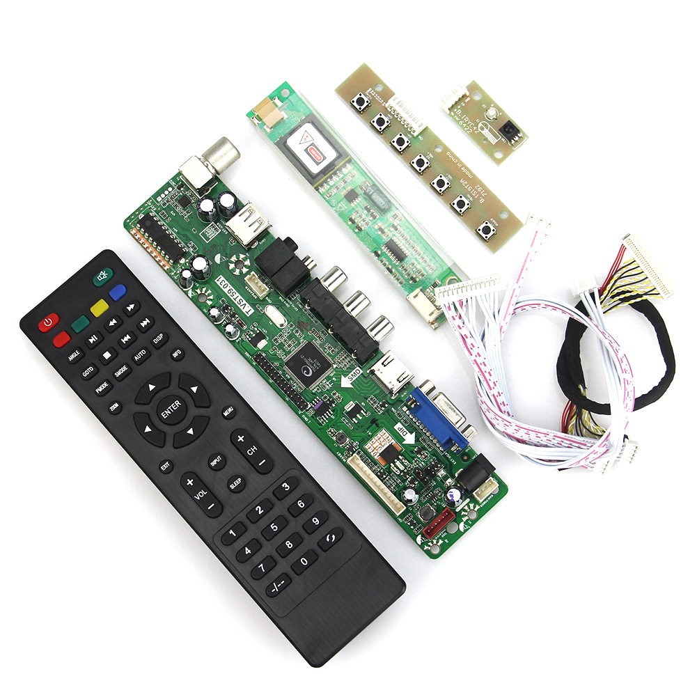 T.VST59.03 LCD/LED Controller Driver Board For LP141WX3-TLN1 LTN141W1-L09 (TV+HDMI+VGA+CVBS+USB) LVDS Reuse Laptop 1280x800 t vst59 03 lcd led controller driver board tv hdmi vga cvbs usb for b101ew05 v 3 pq101wx01 lvds reuse laptop 1280x800