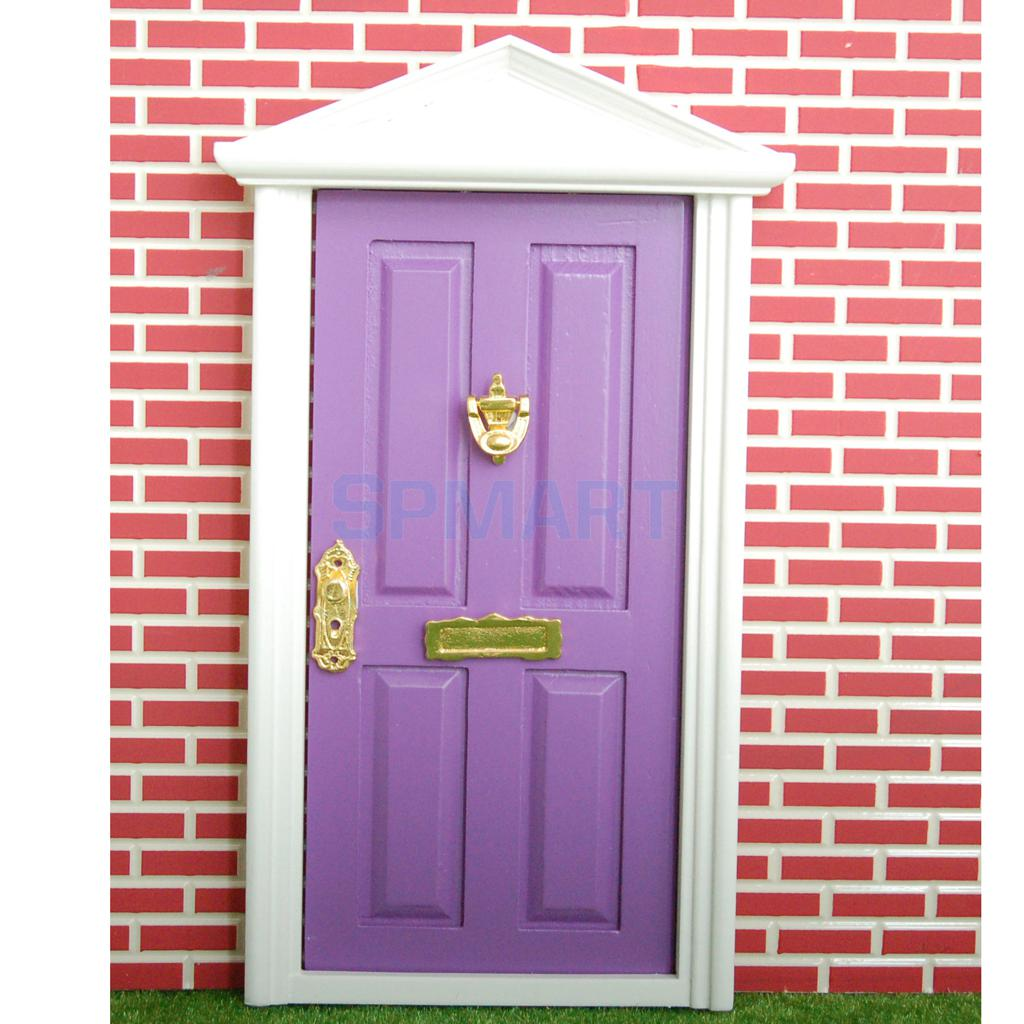 Dollhouse Miniature Wooden Door 4 Panel Exterior Steepletop with Key-in Furniture Toys from Toys \u0026 Hobbies on Aliexpress.com | Alibaba Group  sc 1 st  AliExpress.com & Dollhouse Miniature Wooden Door 4 Panel Exterior Steepletop with Key ...