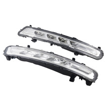 1 1Replacement Car LED Daytime running light Xenon White DRL with fog lamp cover for Ford