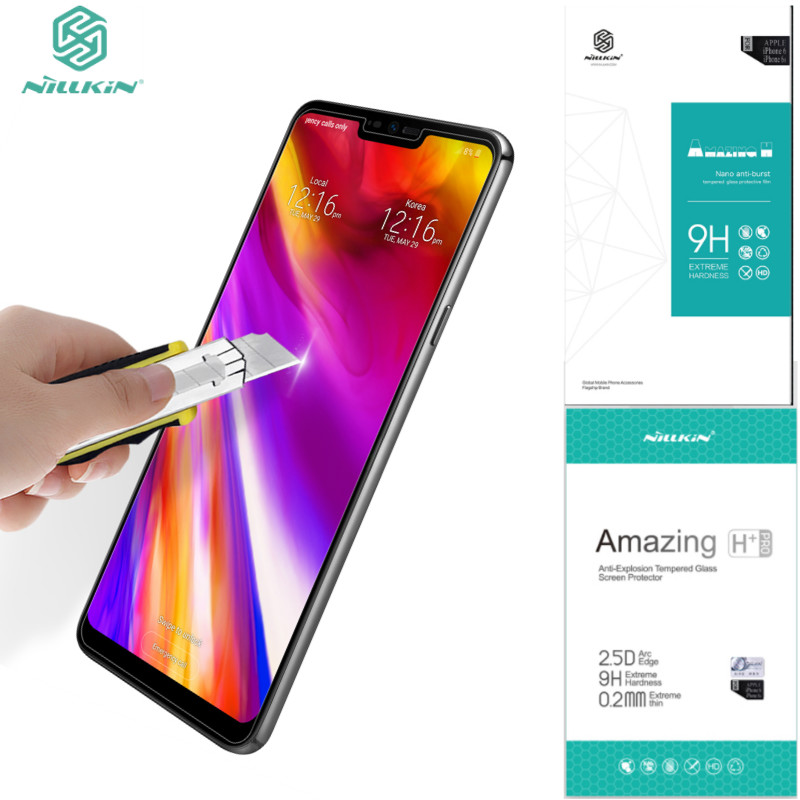 NILLKIN Screen Protector For LG G7 ThinQ 9H Anti-Explosion H H+Pro Tempered Glass Film For LG G7 Fit / LG G7 One Glass Tempered