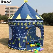Castle Kids Baby Play Tent Playhouse Outdoor Indoor Hut Den Blue Fun Portable