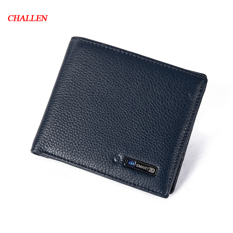 Smart Wallet Men Genuine Leather High Quality Anti Lost Intelligent Bluetooth Purse Male Card Holders Suit for IOS, Android