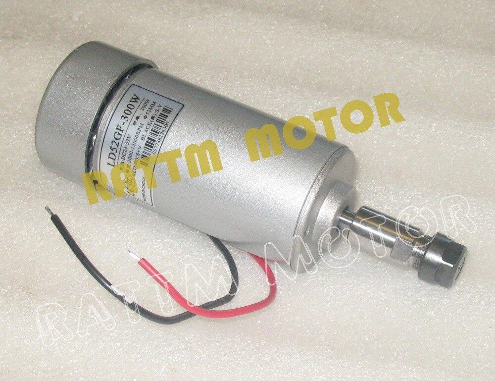 300W Air Cooled Spindle motor DC 12V-48V Spindle Motor with ER11 collet